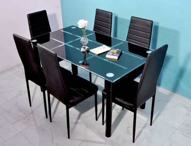 Tanveer Furniture Metal 6 Seater Dining Set