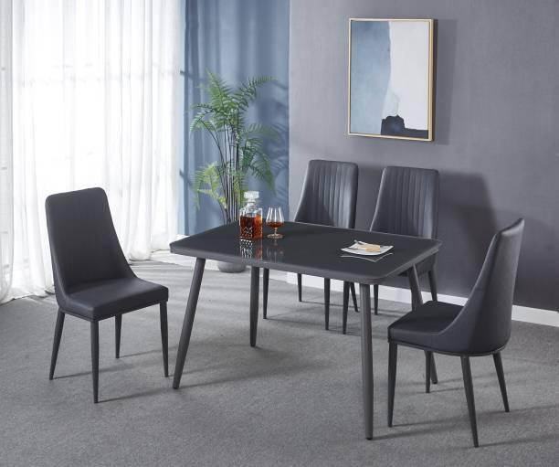 KRIJEN Creata Metal 4 Seater Dining Set