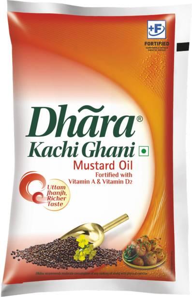 Dhara Kachi Ghani Mustard Oil Pouch