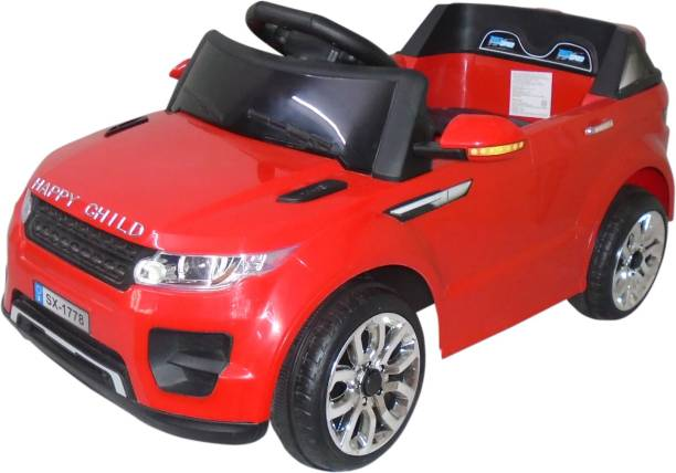 HLX-NMC Happy child Super SUV battery operated car with remote control for kids - Red Car Battery Operated Ride On