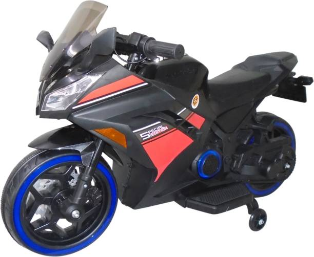 Ez' Playmates Special Edition Ninja Sports battery operated bike for kids - Black Bike Battery Operated Ride On
