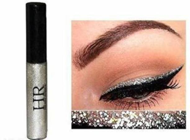 Hilary Rhoda Sparkling Glitter Metallic Waterproof Liquid Eyeliner Eye Party Cosplay Wedding Makeup Eye Liner Tools Silver 5 ml