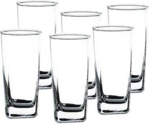J3J (Pack of 6) 6 PACK GLASS Crystal Clear Transparent GLASS Glass Set