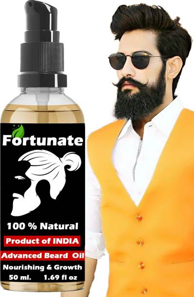 FORTUNATE Beard Growth Oil for strong and healthy beard growth Hair Oil