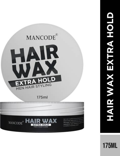 MANCODE Hair Wax Extra Hold for Hair Styling, Shining, Condioning,175ml, Pack of 1 Hair Wax