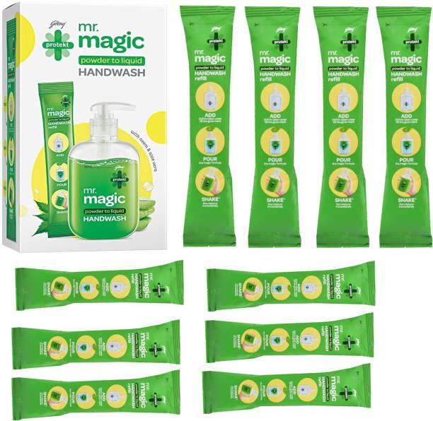 Godrej Magic powder to Liquid handwash 9X10ml Hand Wash Pouch