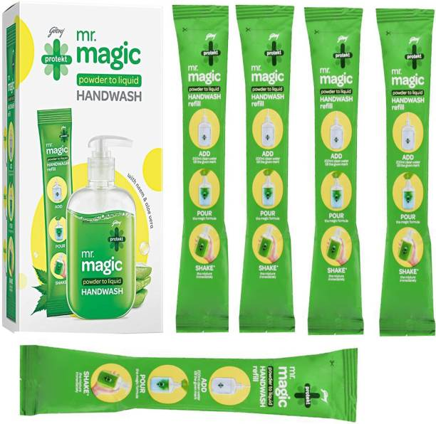 Godrej Magic powder to Liquid handwash 9X5ml Hand Wash Pouch