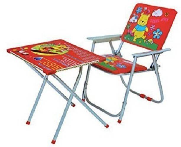 Taaza Garam Kids Table & Chair And Study for Multipurpose for kids Gift Toy Metal Desk Chair