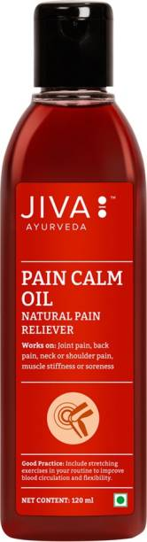 JIVA AYURVEDA Pain Calm Oil - For Relief from Joint and Muscular Pain - Liquid