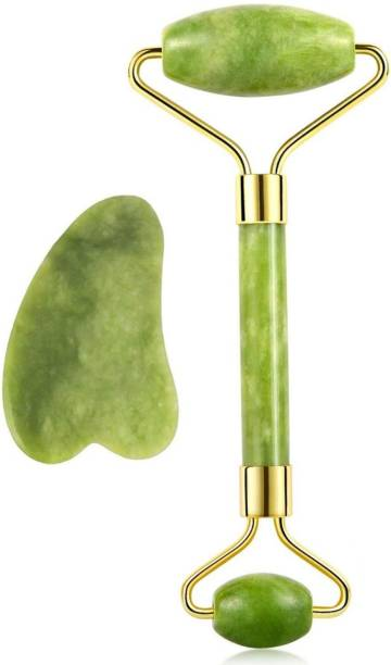 BeFunky Jadr Roller Jade Roller and Gua Sha Face Facial Roller for Face Massager Beautiful Skin Care - Reduce Wrinkles and Fine Lines Massager