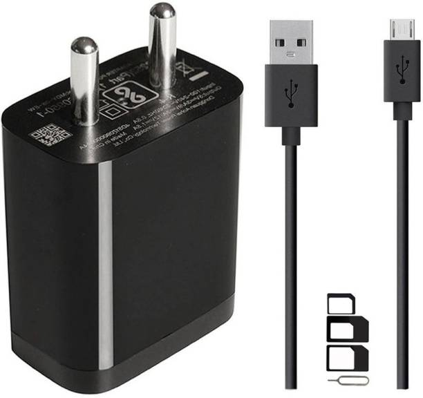 ShopsNice Wall Charger Accessory Combo for Videocon Challenger V40UE, Videocon Graphite2 V45GD, Videocon Krypton2 V50GI, Videocon Infinium Z41 Lite Plus, Videocon Krypton V50FA, Videocon Infinium Z42 Nova, Videocon Graphite V45DD, Videocon Infinium Z45 Dazzle, Videocon Graphite V45DB, Videocon Z55 Dash, Videocon Octa Core Z55 Delite, Videocon Z45 Amaze Charger Original Adapter Like Wall Charger | USB Charger | Mobile Power Adapter | Fast Charger | Android Smartphone Charger | Battery Charger | High Speed Travel Charger With 1 Meter Micro USB Cable | Charging Cable | Data Cable