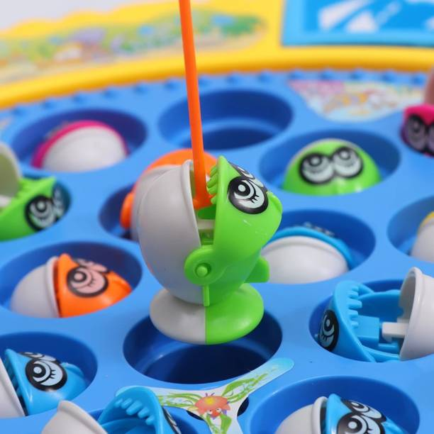 Nizomi Musical GoGo Rotating FishCatching Game With Awesome Light,Best Children FishingGame With Light
