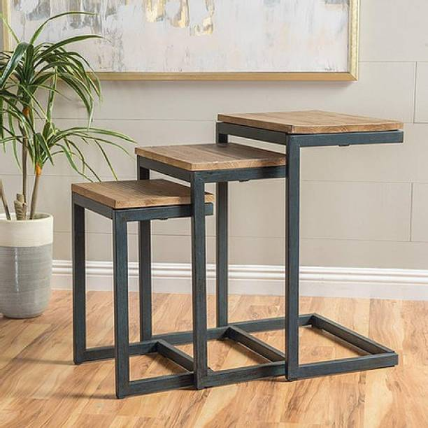 BSR ARTS Solid Wood Nesting Table