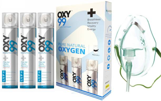 OXY99 Portable Oxygen Can - 3 Pack Portable Oxygen Can