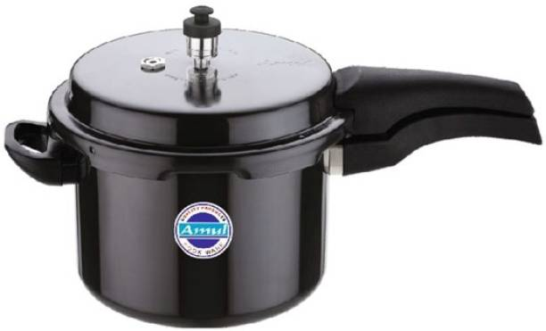 Amul Amul Pressure Cooker 5 Ltr Classic Outer Lid Hard Anodized 5 L Pressure Cooker