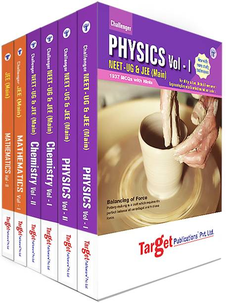 JEE Main Challenger PCM Books | JEE 2021 Books For Engineering Exam | Chapterwise MCQs With Solutions | Physics, Chemistry, Maths Study Material With Previous Year Question Paper | 6 Books
