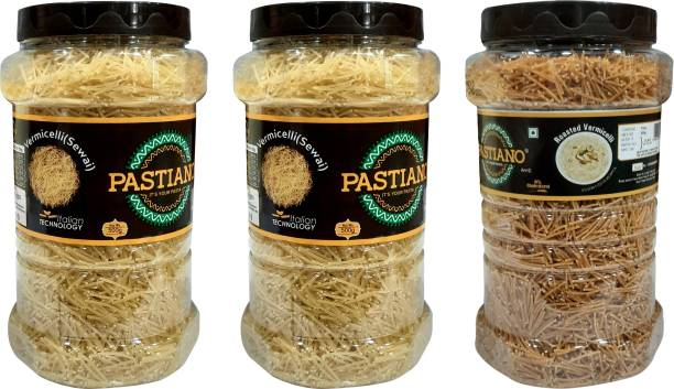 PASTIANO  & Roasted  (Sewai)- Pack of 3- 500 gms each Vermicelli 1.5 kg