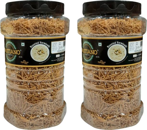PASTIANO Roasted  (Sewai)- Pack of 2- 500 gms each Vermicelli 1 kg
