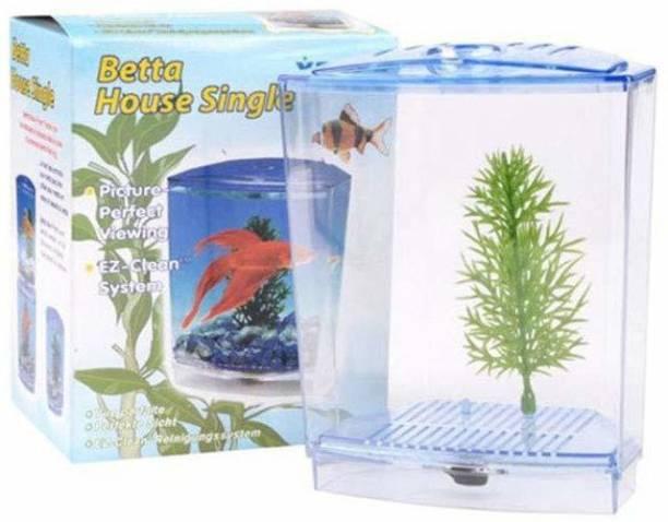 Askadeal Betta house single aquarium Concave View Aquarium Tank