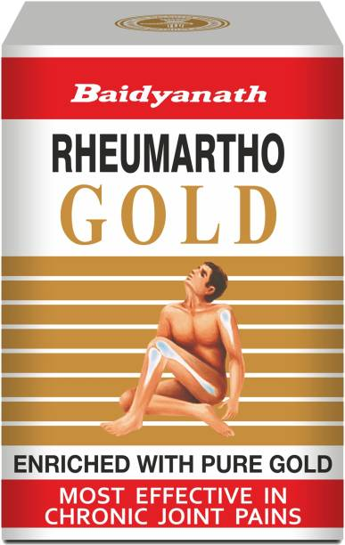 Baidyanath Rheumartho Gold, Enriched with Pure Gold, Effective in Long-lasting relief for Joint and Muscle Pains, Stiffness |