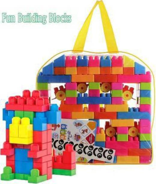 BVM GROUP BEST BABY GIFT 100 Pcs Building Blocks,Creative /Learning Toy/Educational Toy/For Kids Puzzle Assembling Building Unbreakable Kids Toy Set (Multicolor). toys