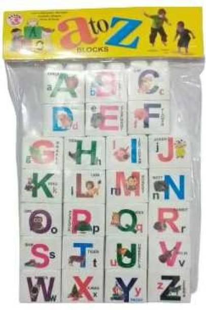 BBS DEAL ( 26 ABCD Blocks ) Brand New 26 Pcs Building Blocks shapes   Non-Toxic   Brain Building  Creative  Learning  Educational   Toy ( 26 Pieces)