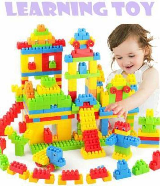 BVM GROUP BEST BABY GIFT 100 Pcs Building Blocks,Creative /Learning Toy/Educational Toy/For Kids Puzzle Assembling Building Unbreakable Kids Toy Set (Multicolor)