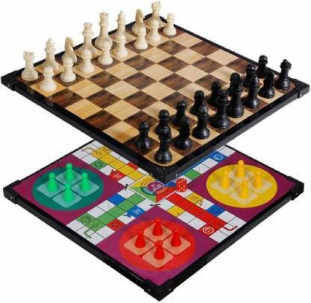 sports & fitness junction Ludo+Chess 2 in 1 Family Combo Indore Board Game For children 30 cm Chess Board