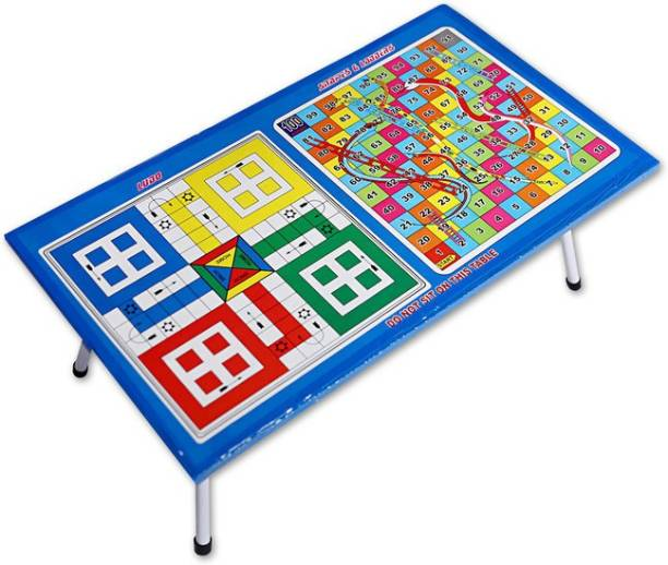 Aarvee Kid's Colorful Snake And Ladder Game with Ludo 2 in 1 Board for Indoor Game (Multicolored) Sports Wooden With Heavy Metal Folding Legs Durable(21 Inchesx 12 Inches) Educational Board Games Board Game