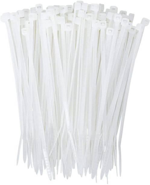 Imaashi 4 Inch Zip Multi-Purpose Nylon Wire Organizer Self Locking Tie Safe, and Non-Toxic for Use in Everyday Life – White Nylon Flexible Straps Cable Tie