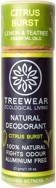 TreeWear Natural Deodorant Cream - Citrus Burst Deodorant Cream  -  For Men & Women