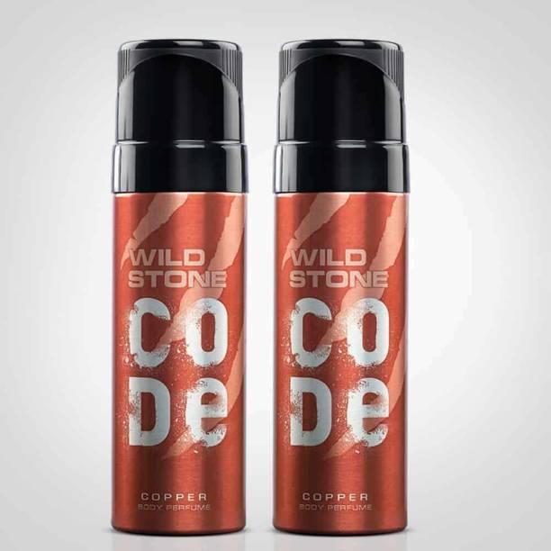 Wild Stone Code Copper Body Perfume For Men, 120ml (Pack Of 2) Body Spray  -  For Men
