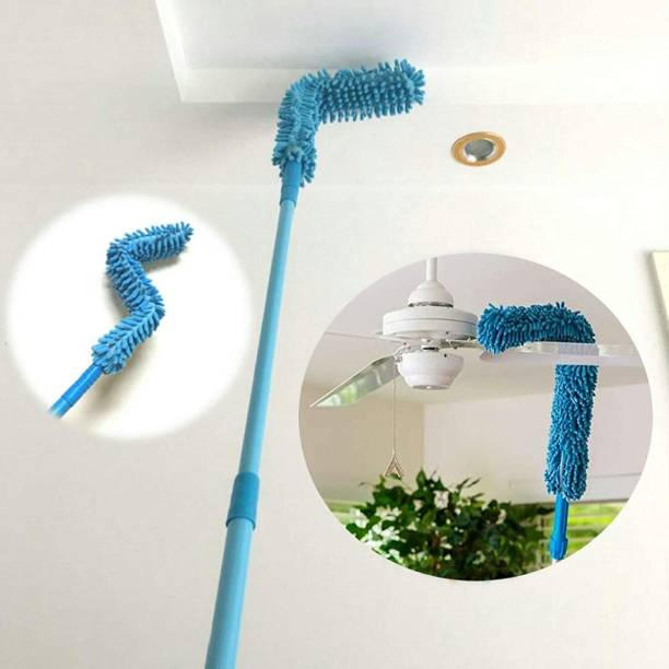 The Pro Homes Foldable Multipurpose Microfiber Ceiling Fan Duster, Flexiable Brush for Car, Home Interior Clean Telescopic Pole Handle Flexible Bendable Washable Duster Dry Duster