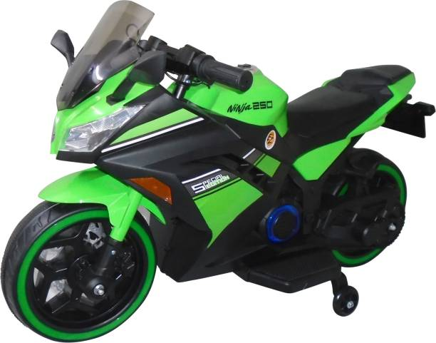 Ez' Playmates Special Edition Ninja Sports battery operated bike for kids - Green Bike Battery Operated Ride On