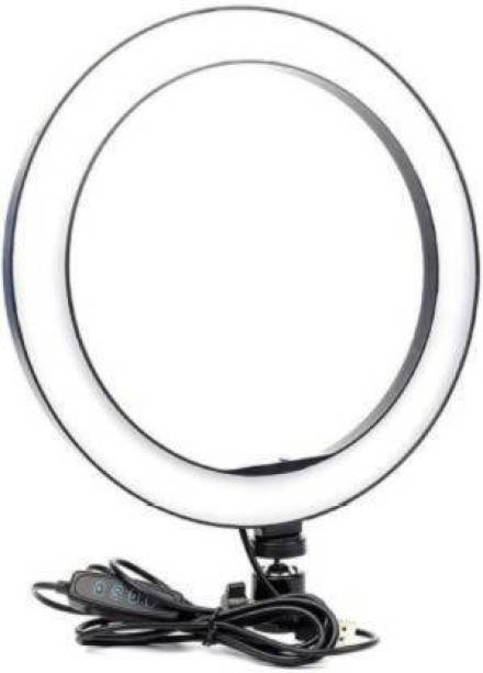 """Hypex Portable 10"""" Ring LED Light With 3 Brightness Mode Featur Ring Flash"""
