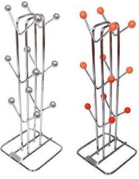 Ekkum Combo Mug Holder Steel Glass Holder