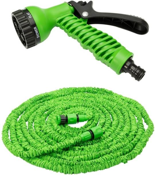 Flipco Garden Hose Expanding Magic Flexible Watering Hose Plastic Hoses Pipe with Spray Gun Tube Hoses to Watering: 75Ft, Connector Hose Pipe