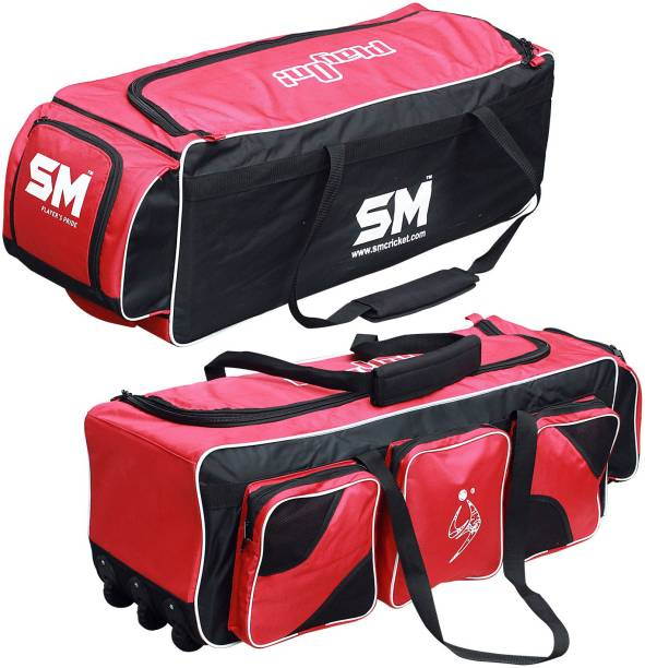 SM FANATIC Cricket Kit Bag / Football / Trolley / Backpack with Wheels