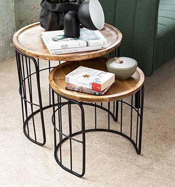 PRITI PRITI Adele Black Metal Nesting Table