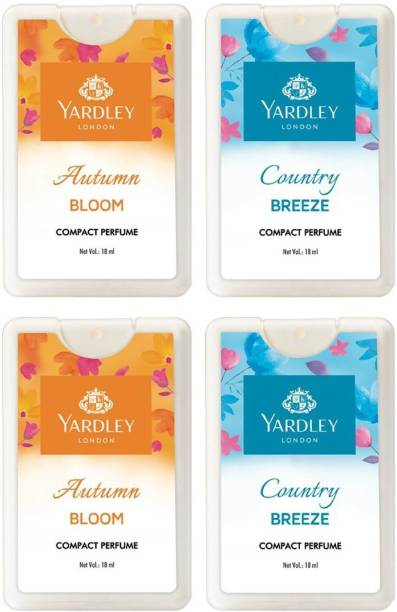 YARDLEY London Autumn Bloom & Country Breeze Compact Perfume -18ml (Pack of 4) Perfume  -  18 ml