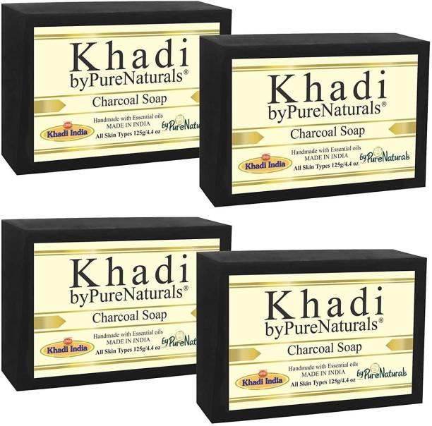 KHADI byPurenaturals Charcoal Soap (1x4 Gift Pack)