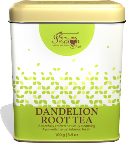 The Indian Chai Dandelion Root Tea for Cleansing Liver, Supports Kidney Function and Digestive Health Unflavoured Herbal Tea Tin