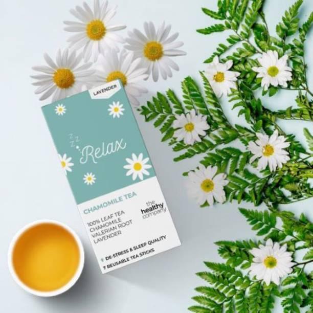 THE HEALTHY COMPANY Relax - Chamomile & Lavender Tea - De-stress & Sleep Plan(Box of 1) - Tasty, Honest, Natural - Chamomile, Lavender, Valerian Root- Men & Women… Lavender Tea Blend Bags Box