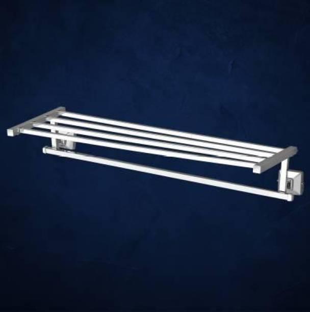 imPULSE Crosslink Squaro Stainless Steel 304 Grade Towel Rack for Bathroom/Towel Stand/Hanger/Bathroom Accessories (18 Inch - Pack of 1) Chrome Finish Towel Holder