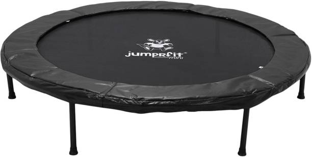 jumprfit 60 inches Mini Trampoline for Adults and Kids with Safety Pad for Fitness- Black Trampoline
