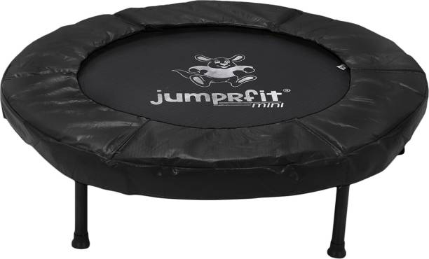 jumprfit 40 inches Mini Trampoline for Adults and Kids with Safety Pad for Fitness- Black Trampoline