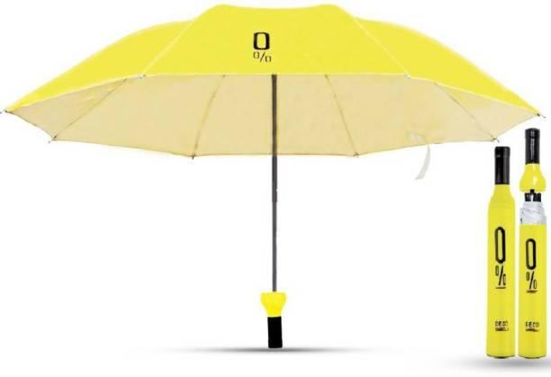 tree fit Fancy Stylish Bottle Umbrella for Women & Men Yellow Umbrella (Yellow) Umbrella