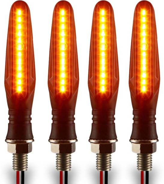 Autofledge Front, Rear, Side LED Indicator Light for Bajaj, Bullet, Datsun, Hero, Honda, KTM, Kawasaki, Royal Enfield, TVS, Universal For Bike, Yamaha 3 Series, 4 Series, 5 Series, 6 Series