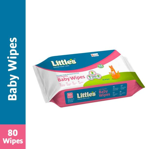 Little's Soft Cleansing Baby Wipes with Aloe Vera, Jojoba Oil and Vitamin E