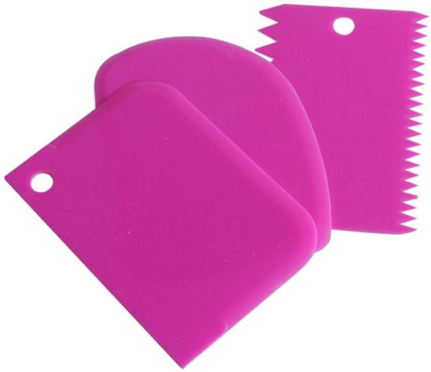 Trendegic Dough Cutter Scrapper Smoother Cream Icing Fondant Cake Decorating Tools for Home and Bake Shop Baking Comb